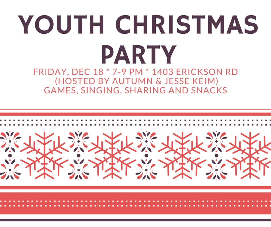 Youth Christmas Party – Erickson Covenant Church